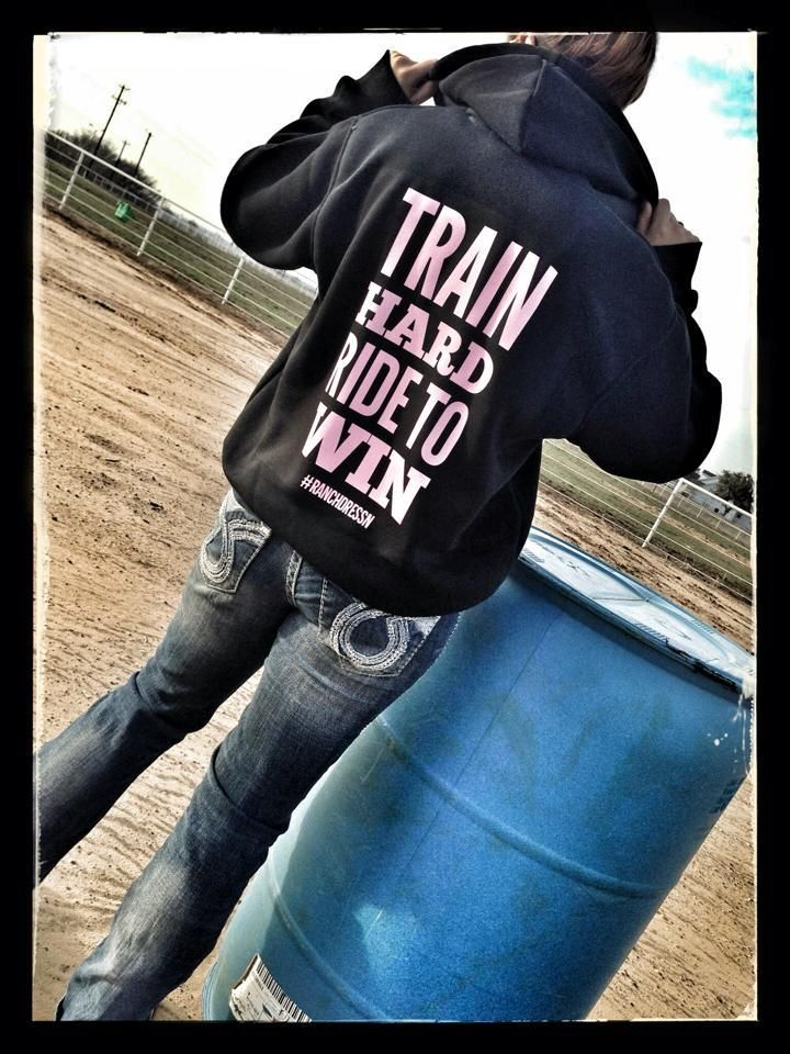 Dynasty Equine - TRAIN HARD RIDE TO WIN (BLACK ZIP UP HOODIE), $40.00 (http://stores.ranchdressn.com/train-hard-ride-to-win-black-zip-up-hoodie/)