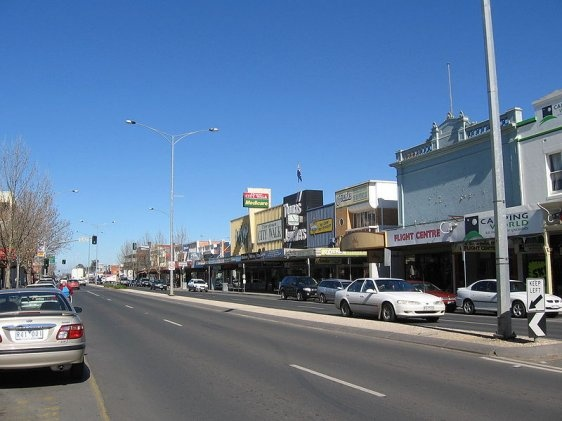 Wyndham Street, the main street in Shepparton, Australia