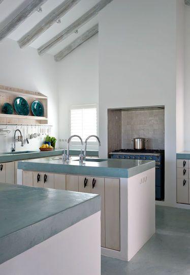 Béton ciré, gepolijst beton als keukenblad