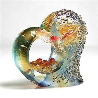 Blooms of Love | 愛讓人間開滿了花 Glass art made by LIULI Crystal Art