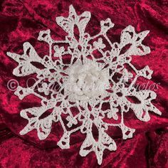 Mother's Day Snowflake Free Crochet Pattern...this is gorgeous, I love that it shimmers!