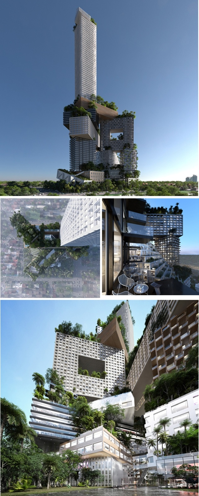 MVRDV Proposes Towering Green Micro-City For Jakarta