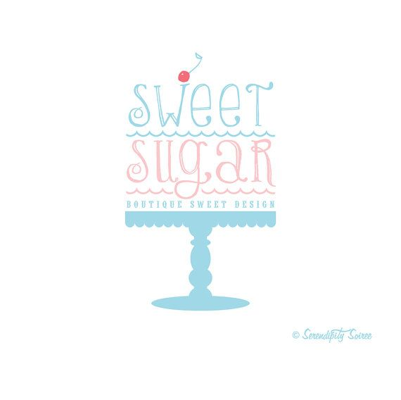 Premium Custom Logo Design   Professional by Serendipity Soiree - sweets design logo/bakery/events/cakery