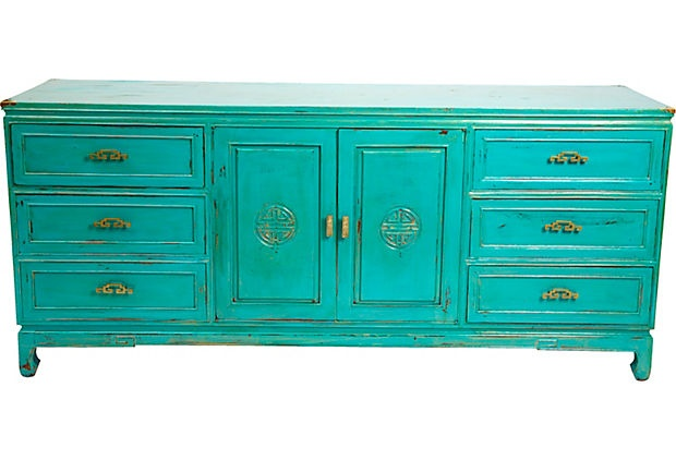 Asian-Style Buffet-How beautiful this teal is.  I love mixing styles-this would fit in with any style.