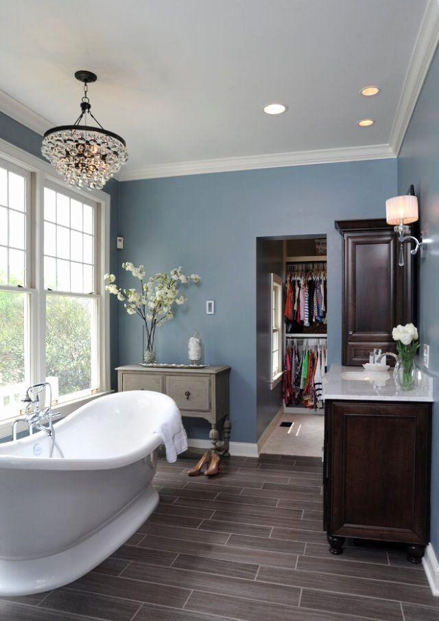 Blue Grey Bathroom Ideas Best Of Wood Floors Walls And White Trim Basement Pinterest Colors Gray