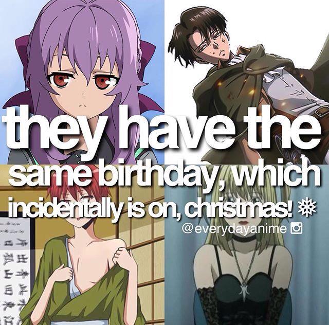 Anime facts birthday