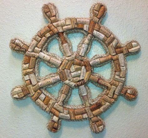 Wine Cork Ships Wheel by westernaccentsbymark on Etsy