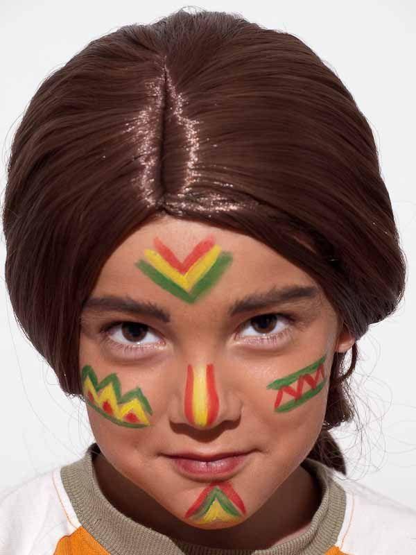 Kinderschminken Indianer Nachher Kids Painting For Kids