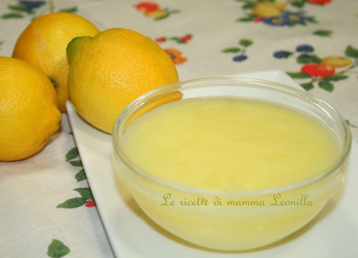 CREMA AL LIMONE SENZA LATTE -ricetta base dolce