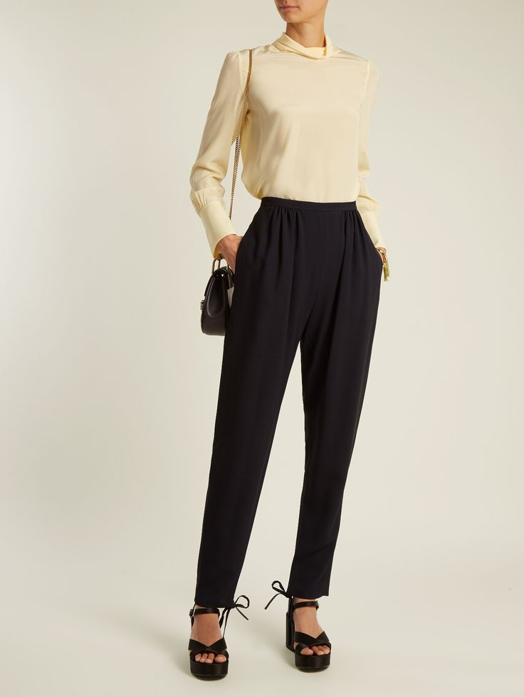 Click here to buy Chloé High-neck crepe de Chine blouse at MATCHESFASHION.COM