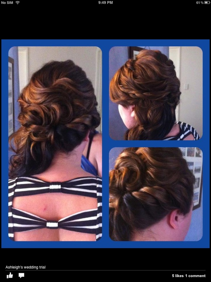Wedding hair- check out snippany on Facebook