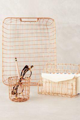 Anthropologie Copper Lattice Desk Collection #anthrofave