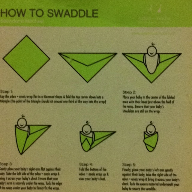 How to swaddle a baby who is fussing for no apparent reason.
