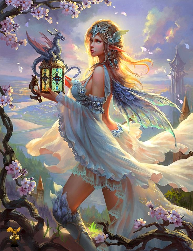 Dawn *FAIRY and Dragonet  Beautiful!! Found on aphrodisiacart.tumblr.com.