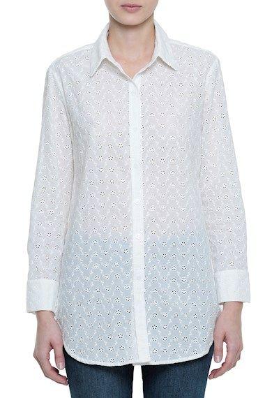 7a4c7e9488 Camisas Femininas - Camisa Lese Capri Branco