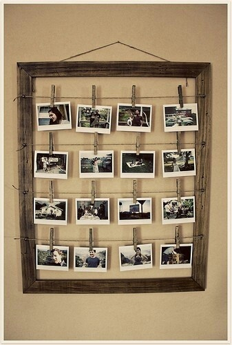 Who doesn't love to be trendy? Display your Polaroids in a wooden clothesline and keep clipping and unclipping your pictures as you capture and print more memories each day.
