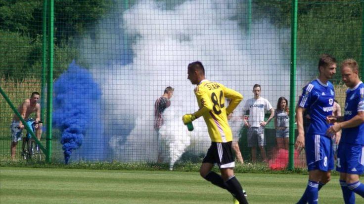 Pyro on Friendly match Wisla Krakow - Ruch Chorzow. 2016-07-02