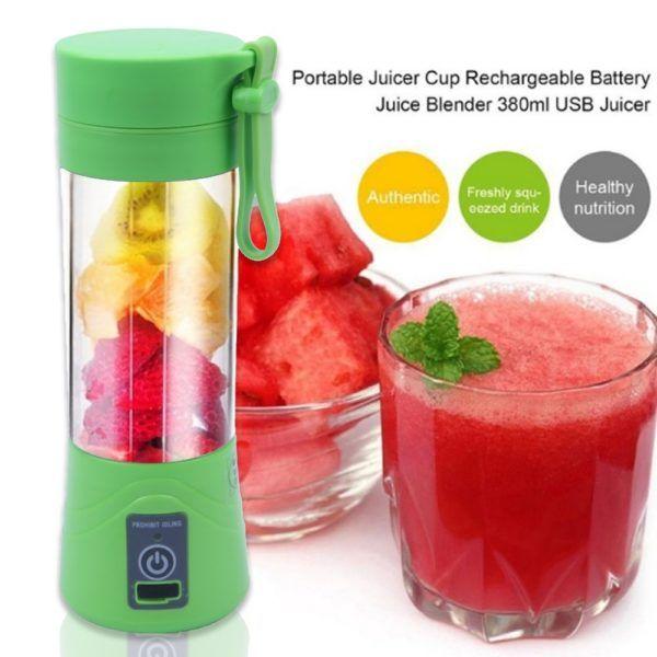 380mL Portable Juicer Maker Bottle Cup Smoothie USB Rechargeable Blender Mixer