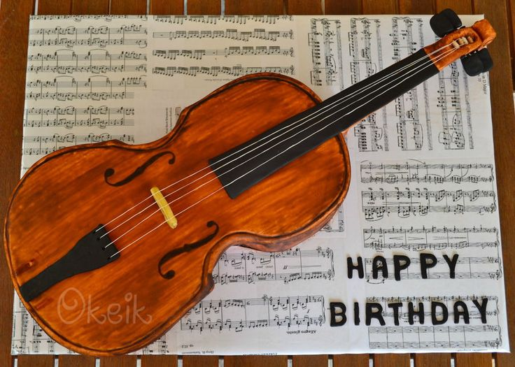 Violin Cake Full size 4/4 Violin cake. Everything but the strings is edible