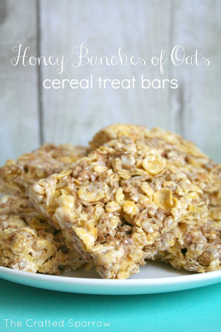 Honey Bunches of Oats Cereal Treat Bars www.thecraftedsparrow.com