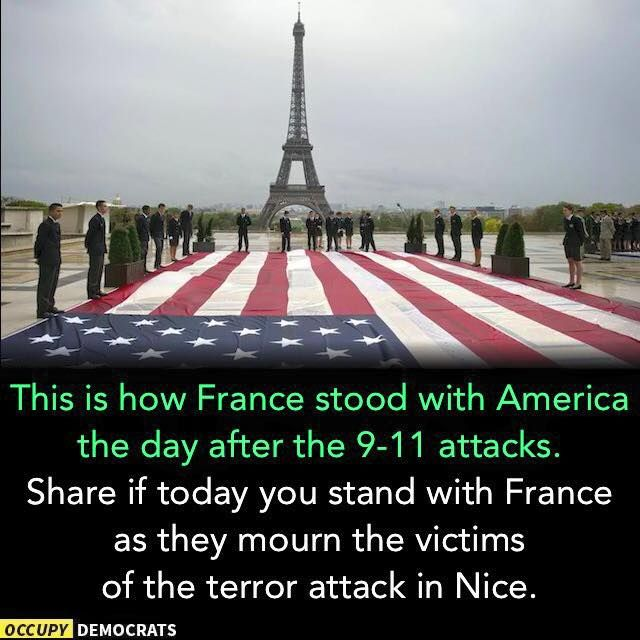 Stand with Nice - 7-14-16 (run-away truck ... at least 80 victims))