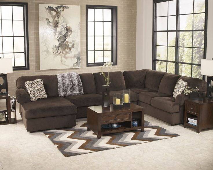 Ashley Furniture Living Rooms. Ashley Furniture Jessa Place Sectional in Chocolate  Living Room 61 best Sofas images on Pinterest Home ideas