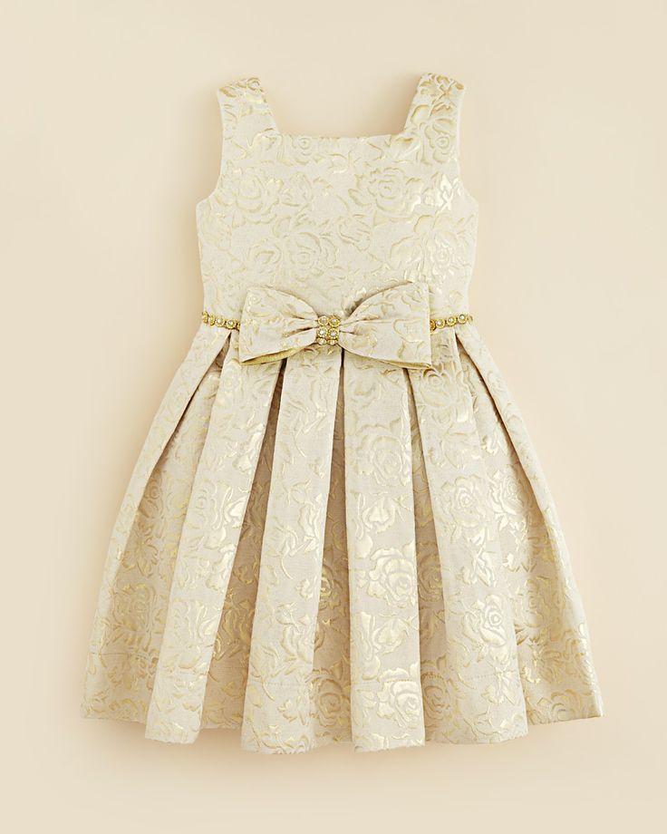 Kleinfeld Pink Girls' Morgan Rose Embossed Dress - Sizes 4-6X | Bloomingdale's