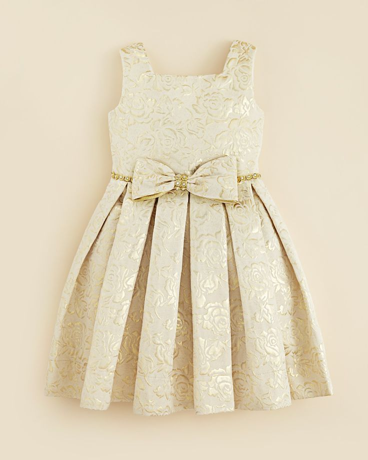 Kleinfeld Pink Girls' Morgan Rose Embossed Dress - Sizes 4-6X | Bloomingdale's
