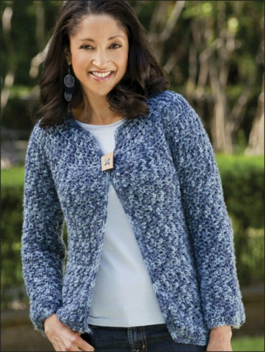 Easy Crocheted Jacket Crochet Pinterest