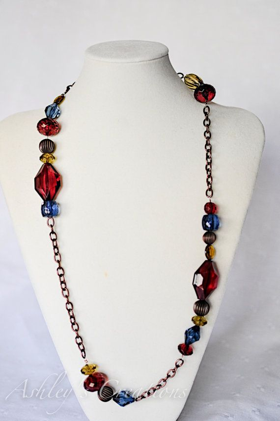 Chain & Bead Necklace