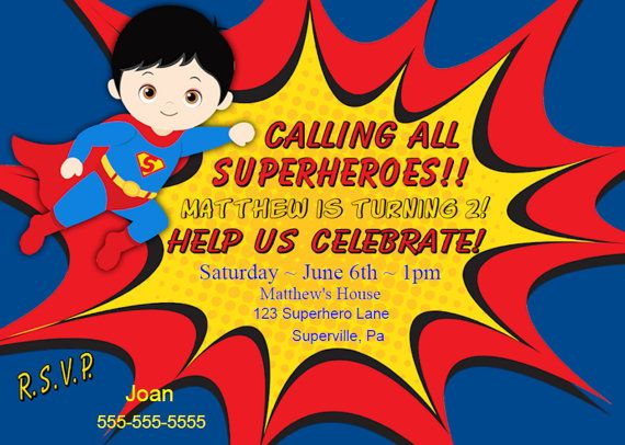 Superman Invitation Instant Download Superhero Birthday Invitation Printable DIY Personalized Boy Party Invitation Kids Free Thank You Note