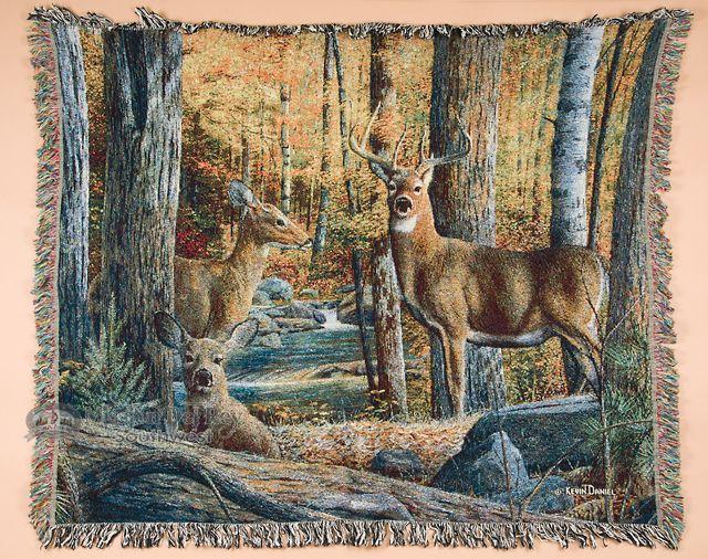 "Wildlife Southwestern Throw Blanket 50""x60"" - Deer  - Mission Del Rey Southwest"