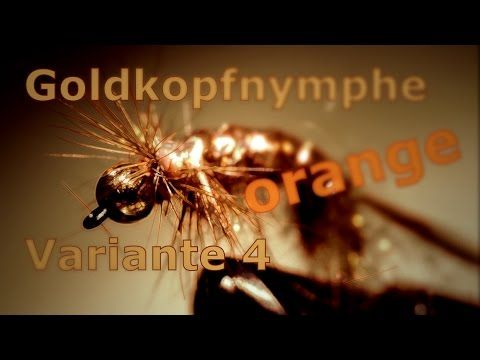 Fliegenbinden Goldkopfnymphe orange Variante 3 Zeitraffer - YouTube