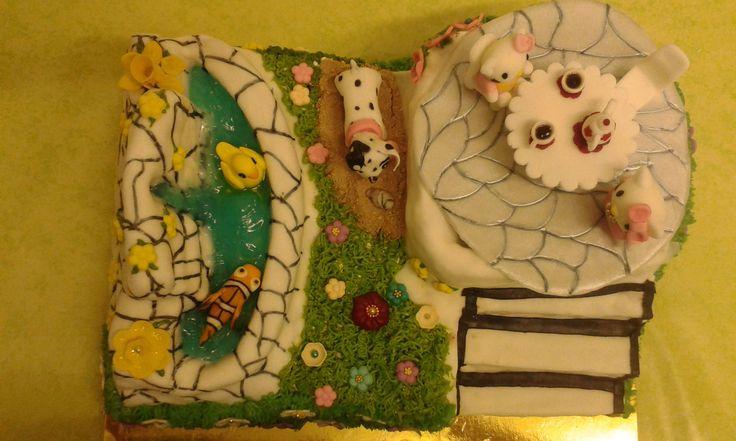 Karina unokám 6. szülinapi tortája. 1. kép