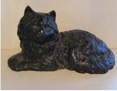 Vintage Antique Cast Iron Black Cat Door Stop - The 40 Best Vintage & Antique Door Stops & Boot Jacks Images On