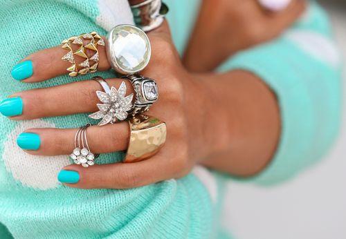 Love bright nail colors!