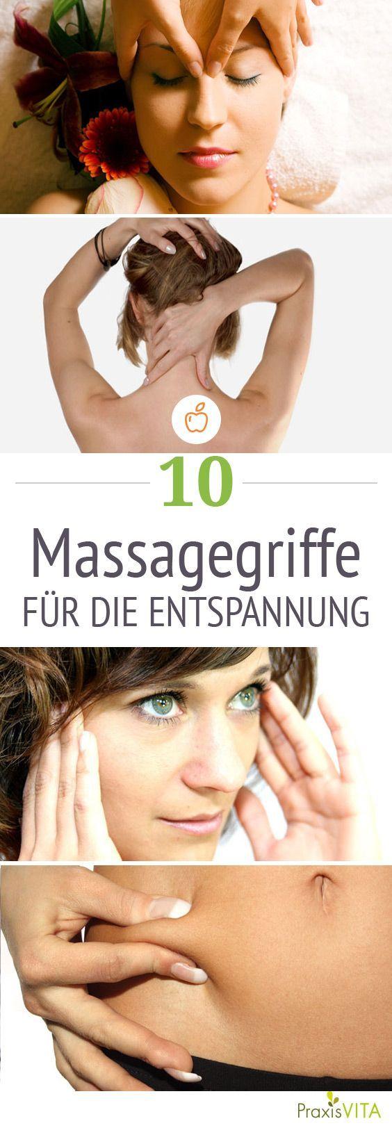 Mit diesen Massagegriffen können Sie neue Kraft tanken.