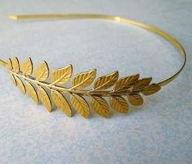 Leaf Plated Headband