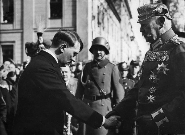 Hitler and Von Hindenburg ~ History Lovers Club