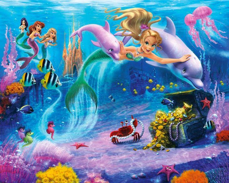 Zeemeerminnen kamer - onderwater - vissen