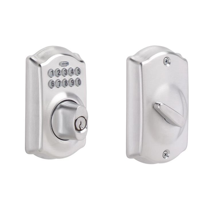 camelot keypad deadbolt in satin chrome - Schlage Door Hardware