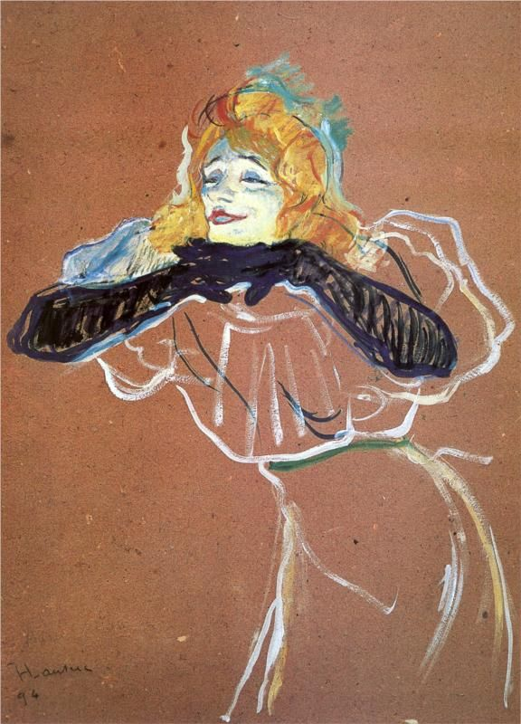 Henri de Toulouse-Lautrec - Yvette Guibert singing.   I have had an intense obsession with Henri since my first art class in high school.