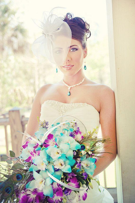 Peacock Wedding Jewelry Set Handmade By Estylo Jewelry #peacockwedding #bridaljewelry