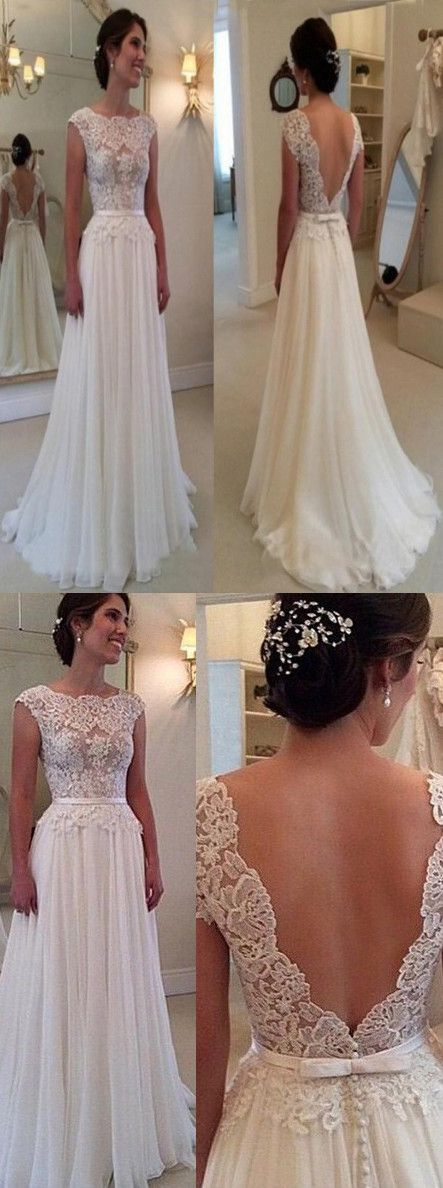 Elegant Wedding Dress,Cowl Wedding Dress,Backless Wedding Dress,Long Wedding Dress,Chiffon Wedding Dress,Lace Top Wedding Dress,Sash Wedding Dress,Wedding Dress,Wedding Dresses,2017 Wedding Dress,2017 Wedding Dresses
