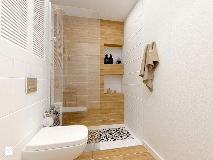 Wrocławska, Kraków. Mieszkanie w stanie deweloperskim - Mała łazienka w bloku bez okna, styl prowansalski - zdjęcie od Justyna Lewicka Design