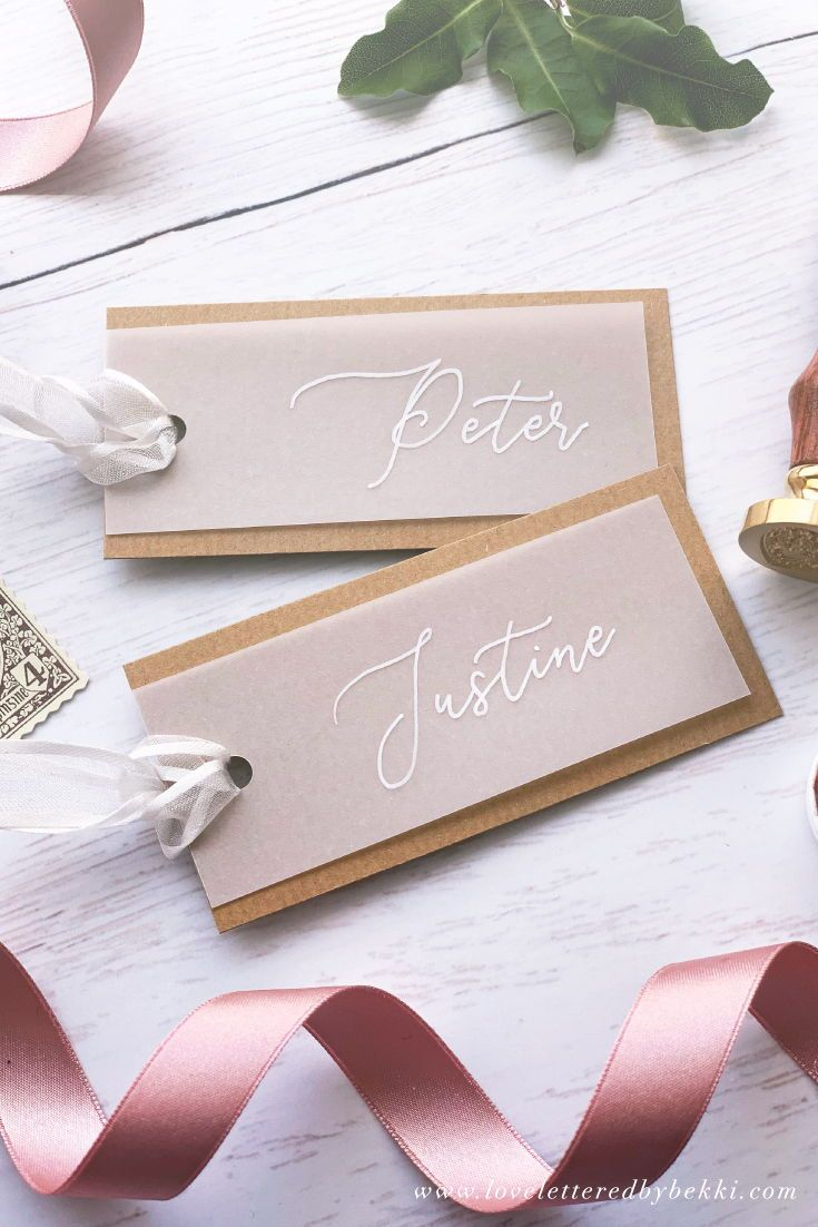 Wedding Stationery Christmas Kraft Shield Place Cards Rustic Wedding Place Cards Hand Lettered Place Cards Name Tags Name Place Cards