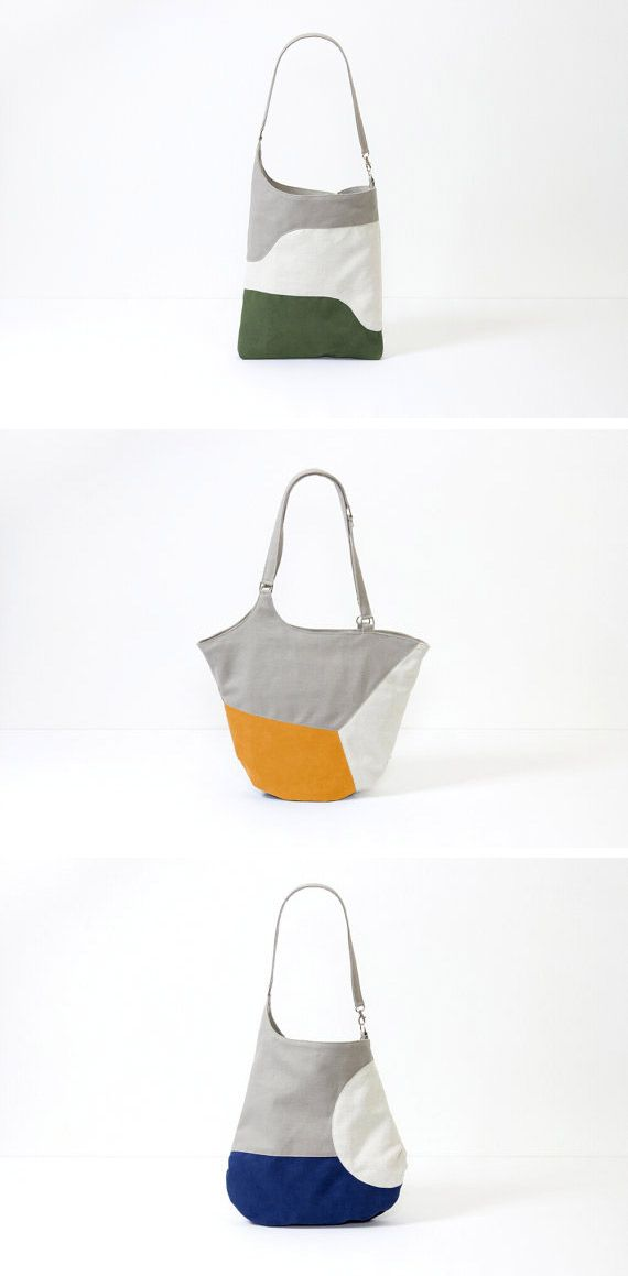 @martinapretto of Marten Labs crafts simple, color-blocked bags from microfiber, linen and cotton — but no leather. #etsy