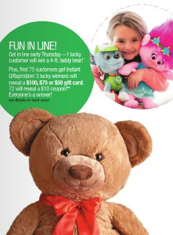 FREE Gift Card, Coupon or Teddy at Stage Stores on Thursday 11/24 - http://freebiefresh.com/free-gift-card-coupon-or-teddy-at-stage-stores-on-thursday-1124/