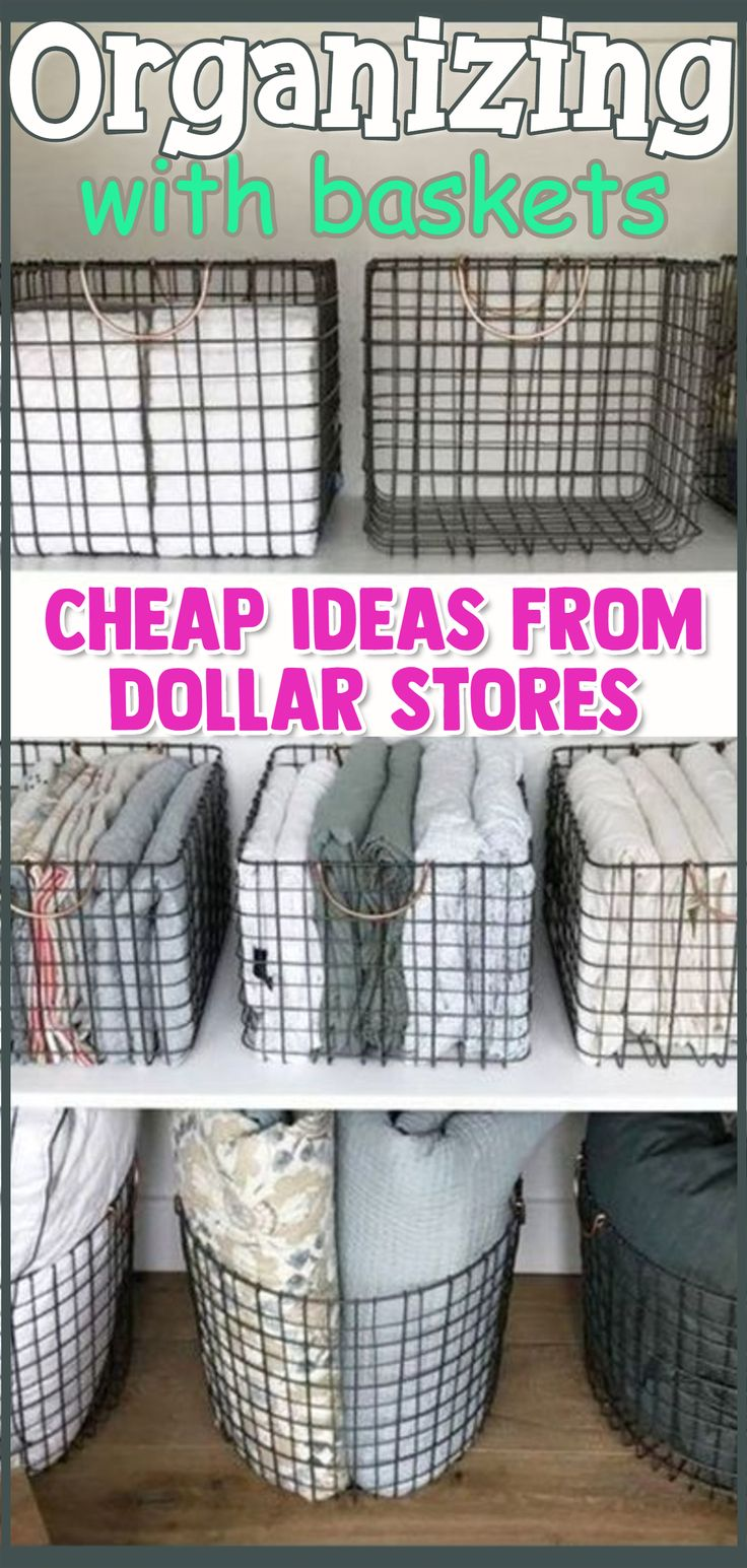 Organizing With Baskets! 36+ Ways To Get Organized on a Budget With Baskets