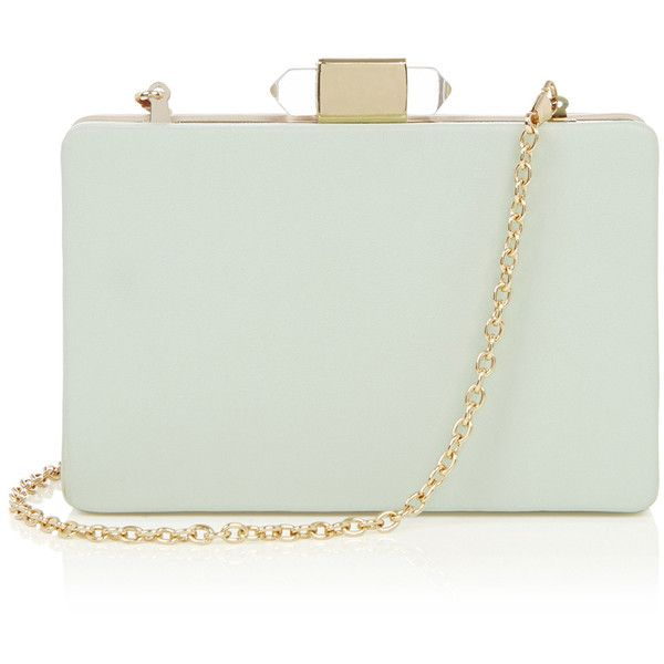 OASIS CONTRAST HARDCASE CLUTCH (116.605 IDR) ❤ liked on Polyvore featuring bags, handbags, clutches, purses, green, green handbags, green purse, oasis handbags, hand bags and handbag purse